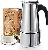 Godmorn Cafetera italiana,Cafetera espressos en Acero...