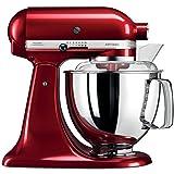 KitchenAid Artisan - Robot de cocina (Rojo, Acero...