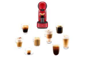 Cafe caliente y café frío, con una de las cafeteras Dolce Gusto de ultra diseño
